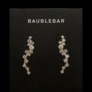 BaubleBar Earrings Ear Crawlers Farrah Gold Tone